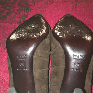 Prada Brown Suede Stiletto - 38.5 / 8