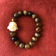 Load image into Gallery viewer, Laughing Buddha and Tiger Eye Bracelet
