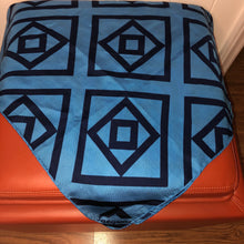 Load image into Gallery viewer, Jacqmar Vintage Geometric Blue Scarf