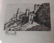 Load image into Gallery viewer, Vintage Etching Medieval Castle- Artist: J. Reme