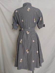 Calvin Klein Floral Tie Sleeve Dress with Belt - Preowned