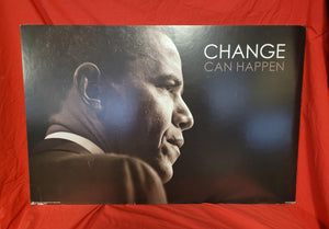 "President Obama ""Change Can Happen"" Mounted Poster"
