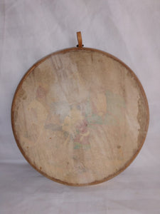 DOIRA UZBEK HAND DRUM - Painted and Signed