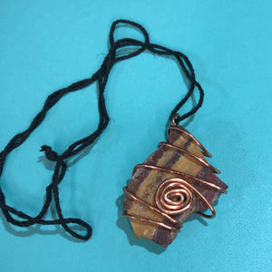Rock and Copper Pendant