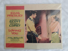 "Load image into Gallery viewer, ELVIS Loving You (1957) - 11"" x 14"" Movie Theater Lobby Card"