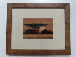 Framed MALACHI SMITH SOUTH AFRICAN Print - Signed by Artist