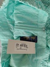 Load image into Gallery viewer, Francesca's Blue Rain Zippered Shorts- Size: M- NEW