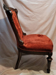 Late 19th Century Walnut Victorian Eastlake Side Chair