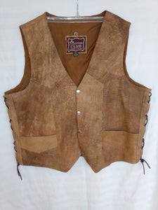 Leather Club Men's Vest- Used- Size 48