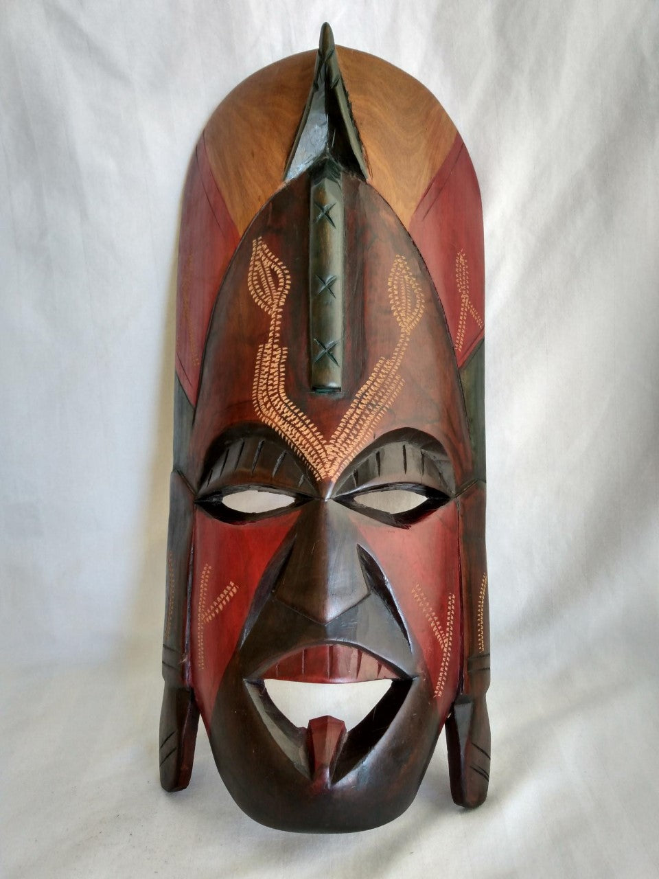 African Tribal Wooden Mask- Hand Carved- Made in Kenya
