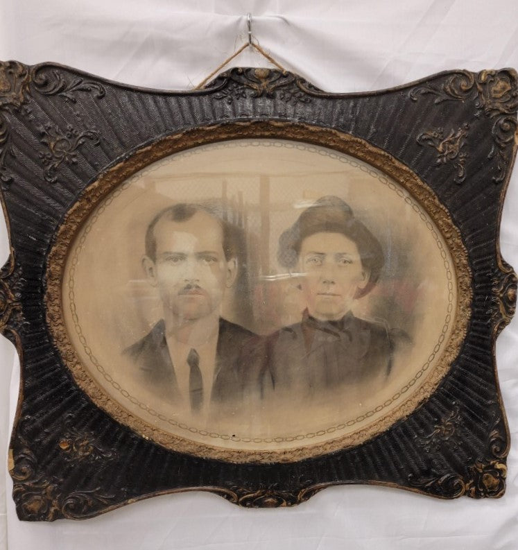 Antique Framed Photo of Victorian Couple