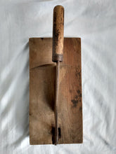 Load image into Gallery viewer, Blacksmith Hand Forged Butcher Block Chicken Head Chopper/Knife Cleaver/Tobacco Cutter