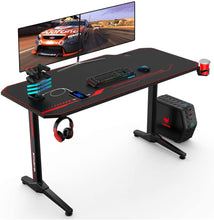 Load image into Gallery viewer, 55x23 Inch Ergonomic Gaming Desk E-sports Computer Table PC Desk Gamer Tables Workstation with USB Gaming Handle Rack&Mouse Pad
