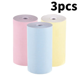Color Thermal Paper Roll 57*30mm No stickine Photo Paper Clear Printing for PeriPage A6 A8 PAPERANG P1 Mini Pocket Photo Printer