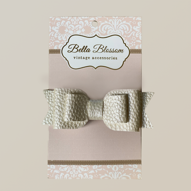 Ruby White Cloud Baby Bow Clip - Baby Bows headbands Baby Gifts Hair Clips