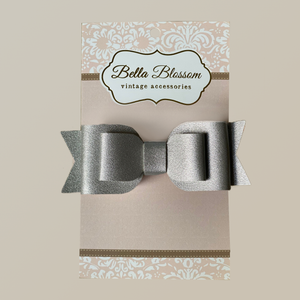 Ruby Lady Grey Baby Bow Clip - Baby Bows headbands Baby Gifts Hair Clips