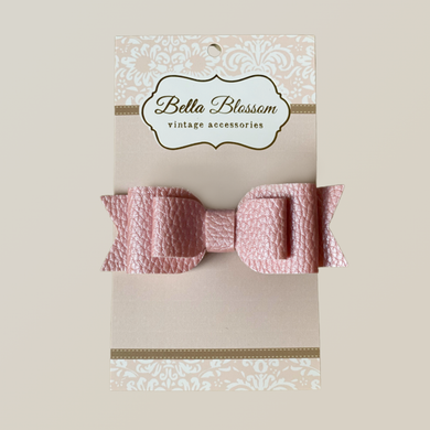 Ruby Pastel Pink Baby Bow Clip - Baby Bows headbands Baby Gifts Hair Clips