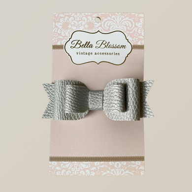 Ruby Grey Mist Baby Bow Clip - Baby Bows headbands Baby Gifts Hair Clips