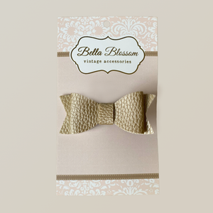 Lexie Bronze Baby Bow Clip - Bella Blossom Bows