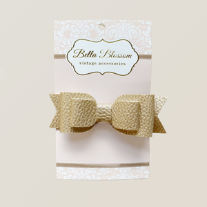 Ruby Shimmer Snow Baby Bow Clip - Bella Blossom Bows