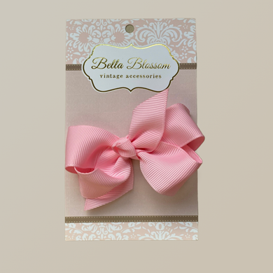 Lola Poppy Pink Baby Bow Clip - Baby Bows headbands Baby Gifts Hair Clips
