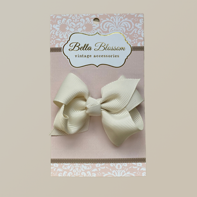 Lola Ivory Baby Bow Clip - Baby Bows headbands Baby Gifts Hair Clips