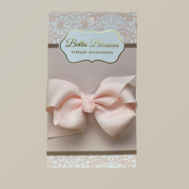 Lola Marshmallow Pink Baby Bow Clip - Baby Bows headbands Baby Gifts Hair Clips