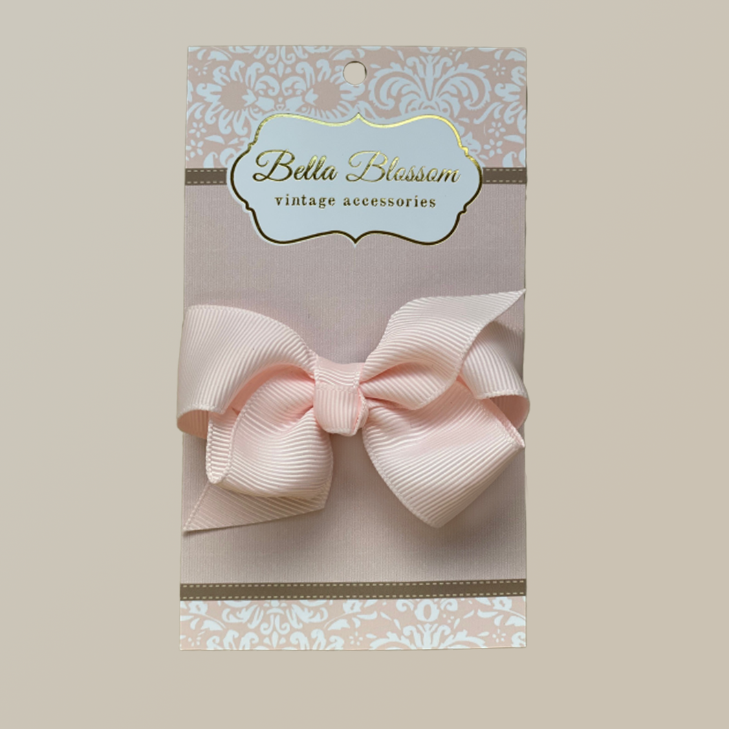 Lola Marshmallow Pink Baby Bow Clip - Bella Blossom Bows