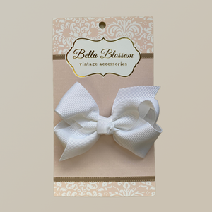 Lola White Baby Bow Clip - Baby Bows headbands Baby Gifts Hair Clips