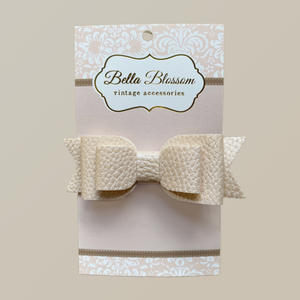 Ruby Safari Dust Baby Bow Clip - Bella Blossom Bows