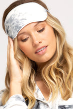 Load image into Gallery viewer, Grey Tie Dyed Cozy Pajama Set with Matching Sleep Mask