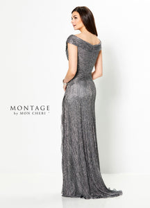 Montage 219975 Off The Shoulder Ruched Gown