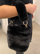 Load image into Gallery viewer, Black Faux Fur Purse