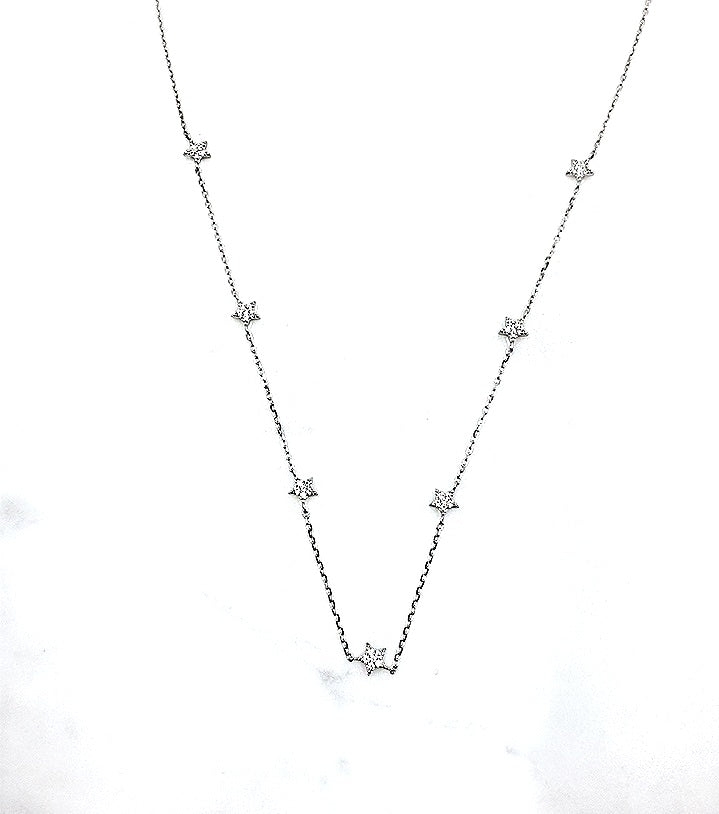 Stars Necklace Sterling