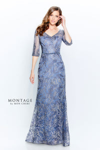 Montage 120924 Beautiful Embroidered Lace Gown
