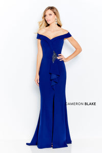 Cameron Blake 120614 Off the shoulder Long Gown