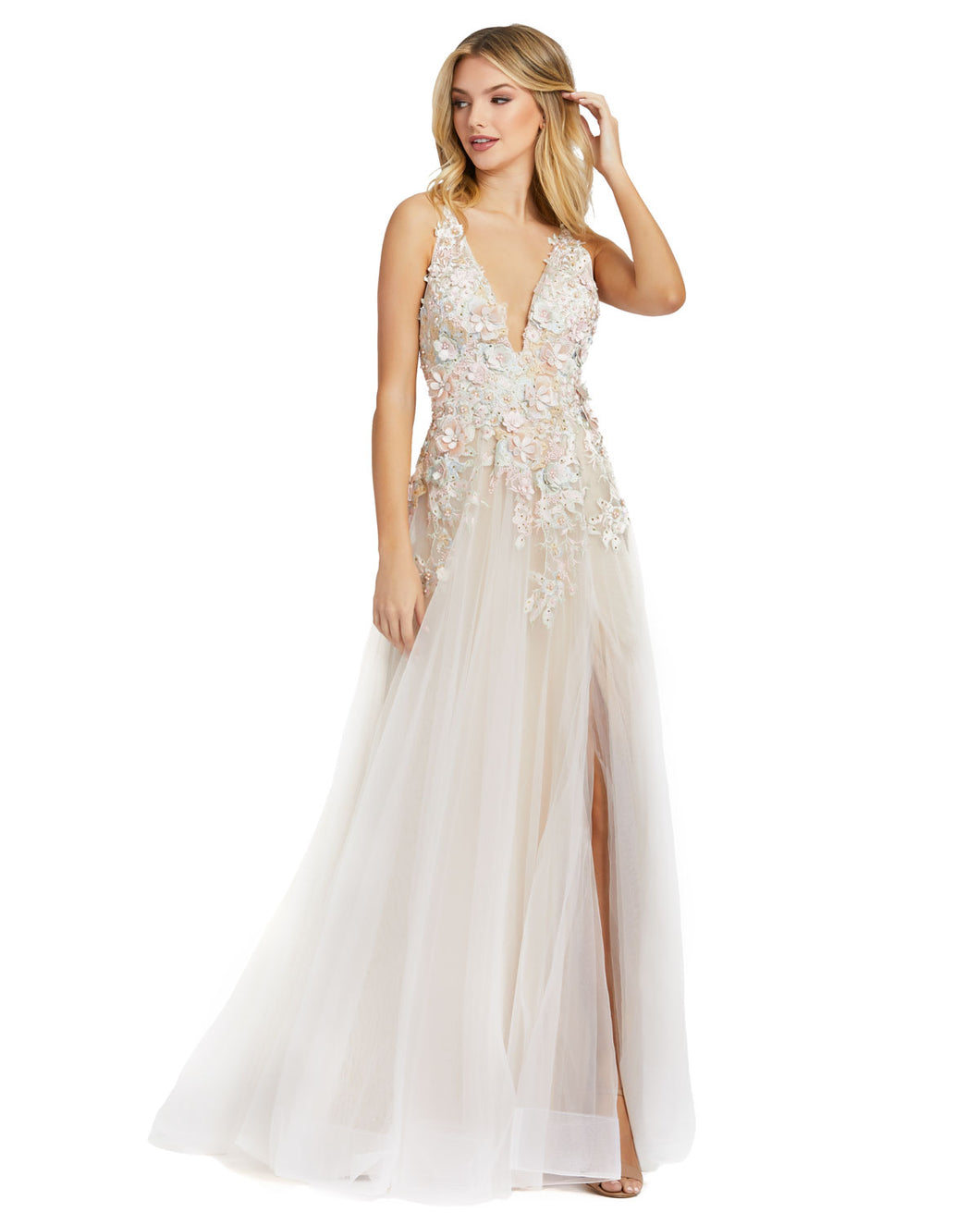 Macduggal 12312 Beautiful Lightweight Embellished Gown