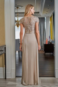 Jade J225017 Lace and Chiffon Gown
