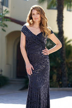 Load image into Gallery viewer, Jade 205051 Beautiful Floral Stretch Velvet Gown