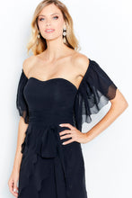 Load image into Gallery viewer, Montage 120613 Strapless Chiffon gown with Off the Shoulder Shawl