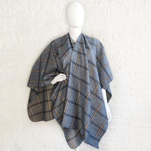 Load image into Gallery viewer, Blue Plaid wrap