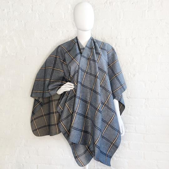 Blue Plaid wrap