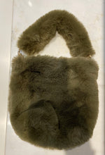 Load image into Gallery viewer, Olive Green Faux Fur purse