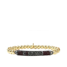 Load image into Gallery viewer, Valentine Red and Navy Pave stone bar design bracelet
