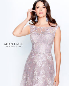 Montage 120917 Beautiful Sleeveless Embroidered Gown