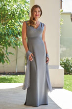 Load image into Gallery viewer, Jade J215009 Stretch Crepe Sleeveless Gown
