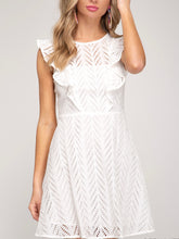 Load image into Gallery viewer, Great Eyelet Short Dress