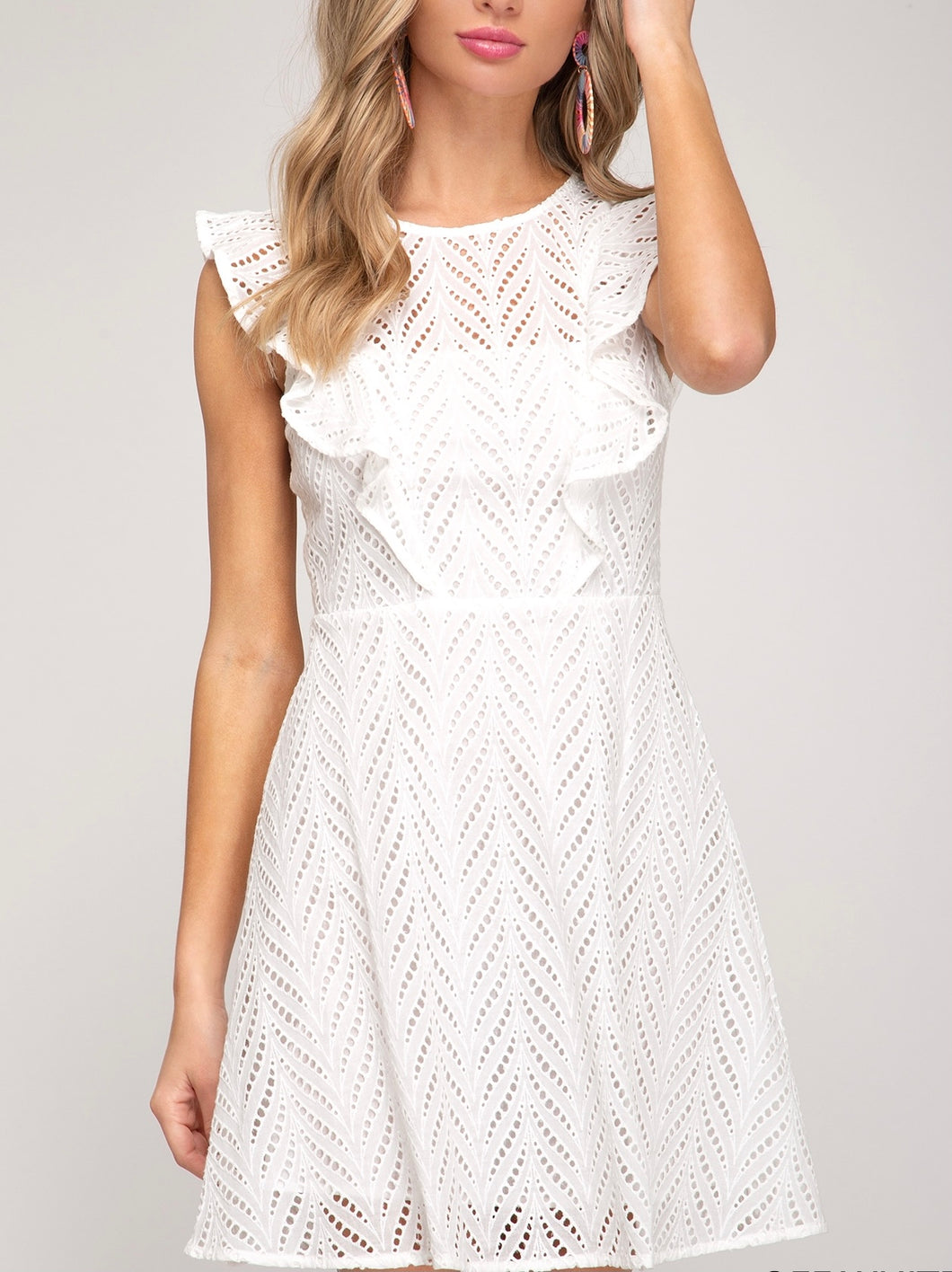 Great Eyelet Short Dress