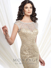 Load image into Gallery viewer, Montage 215912 Elegant beaded lace Long Gown
