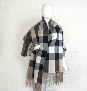 Designer Inspired Classic Plaid Shrug Scarf